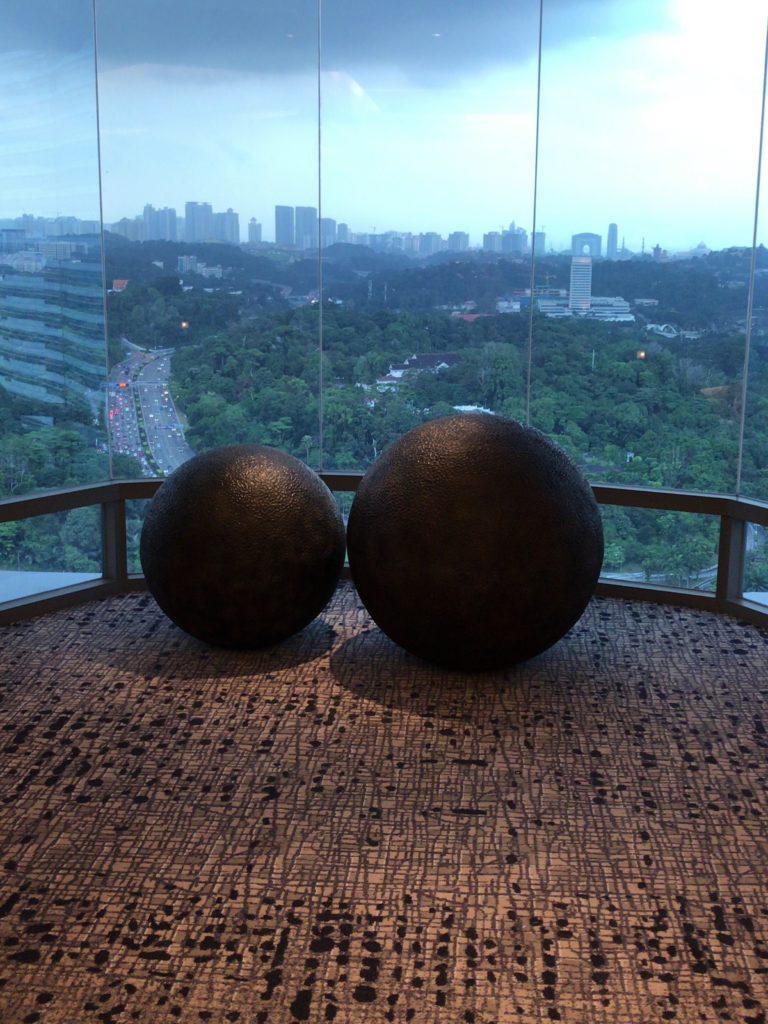 33階エレベーターフロアからの景色
