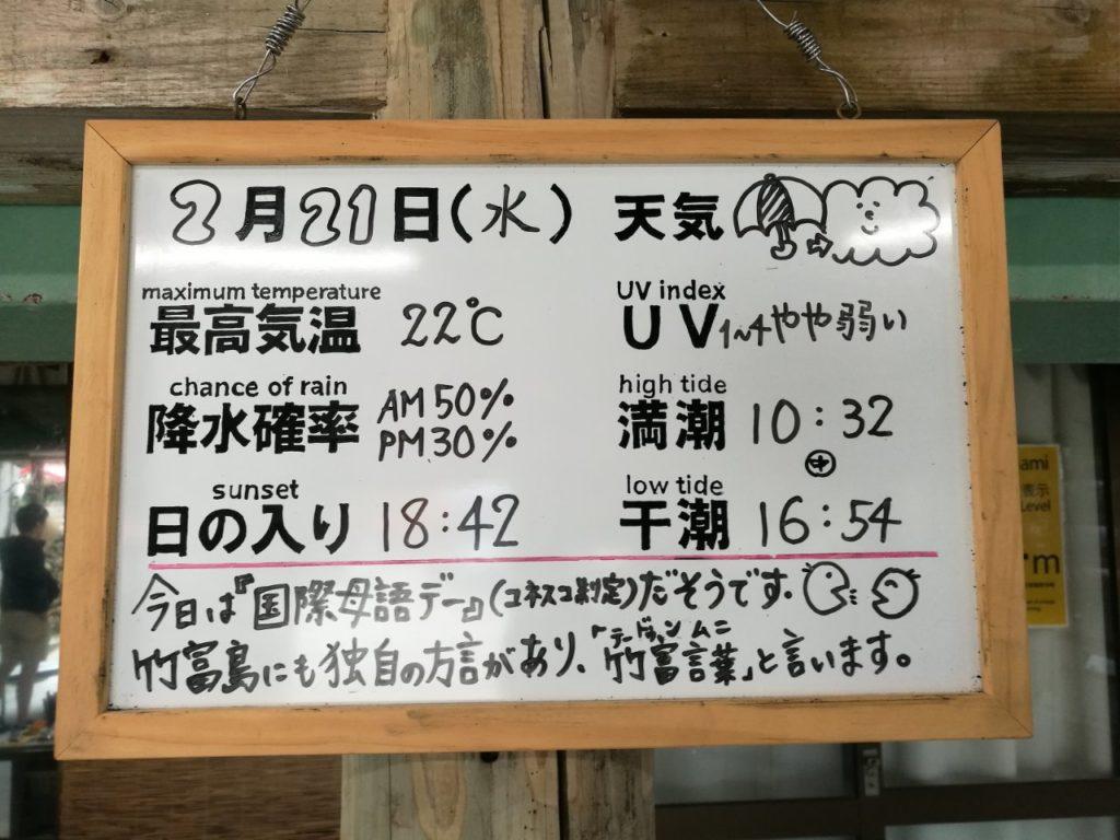 竹富島の天気