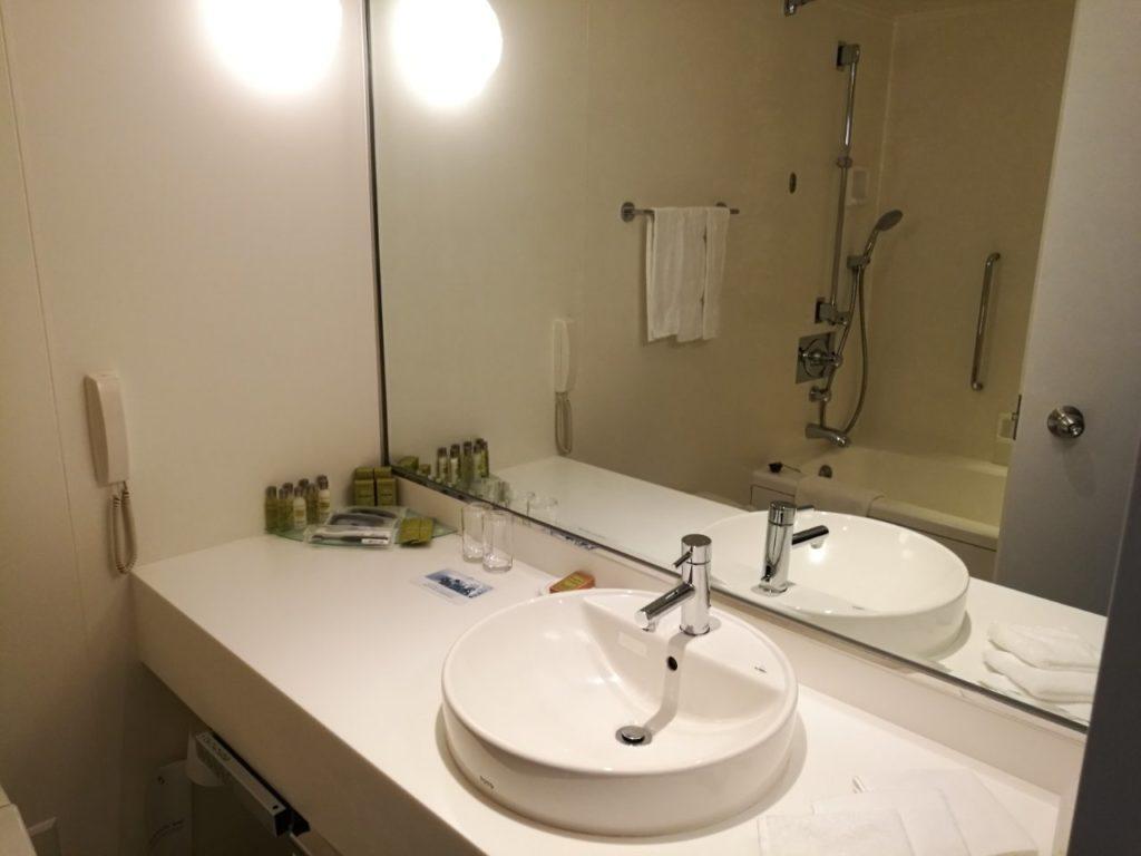 1045号室 セレブリオ ツインルーム パークビュー 洗面所
