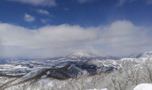 晴れのルスツリゾートから羊蹄山を見る