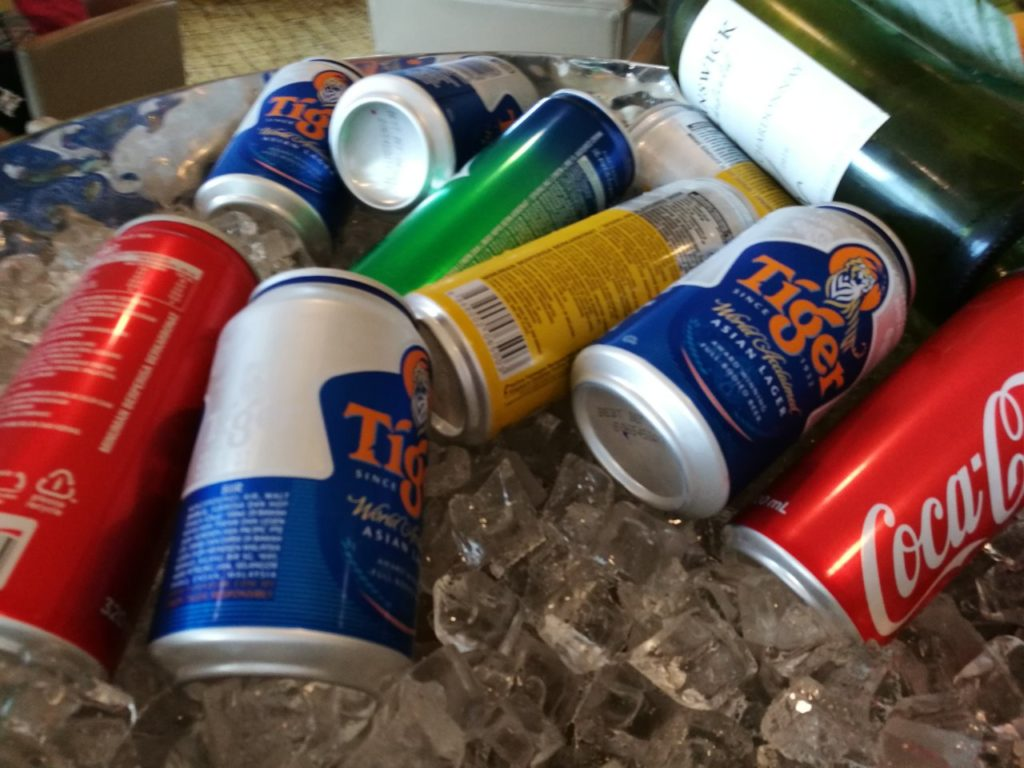 イブニングカクテル。ビールが有ります。