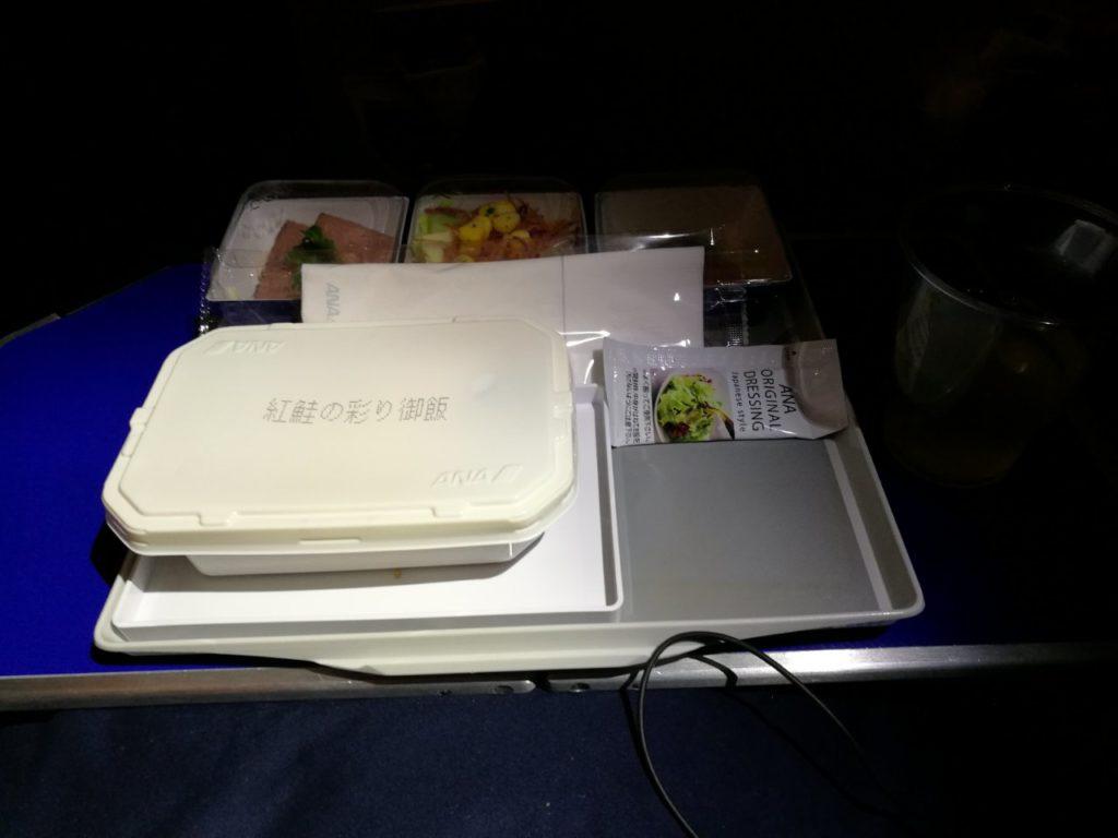 プレミアムエコノミー機内食
