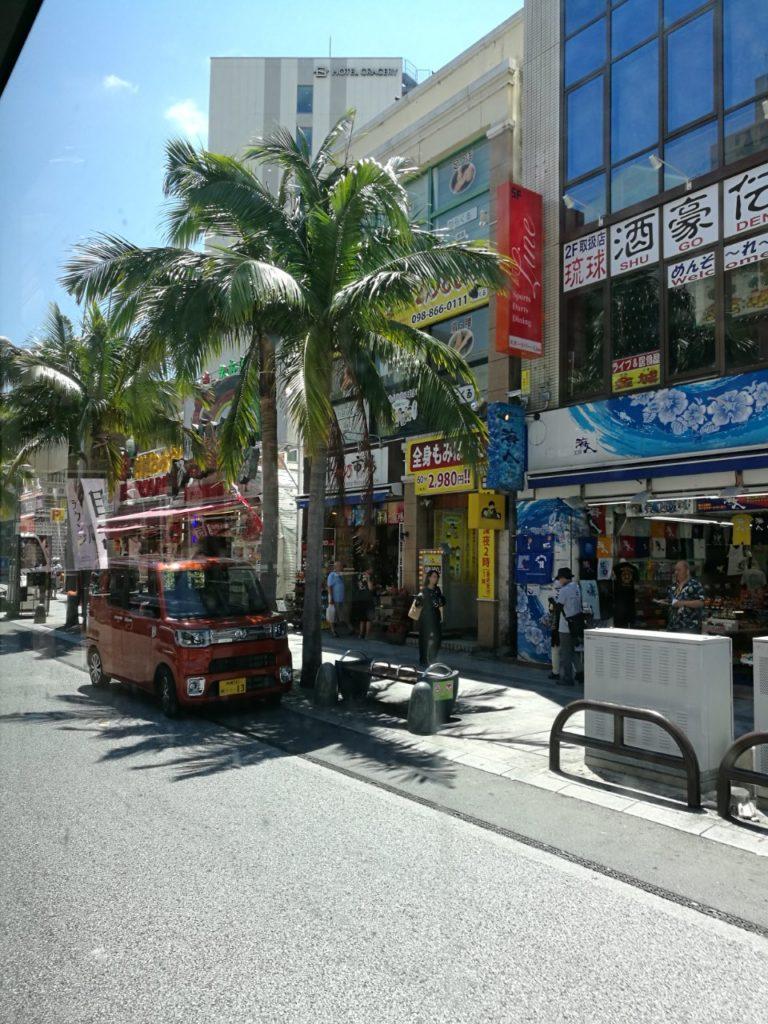 バス路線移動・国際通り