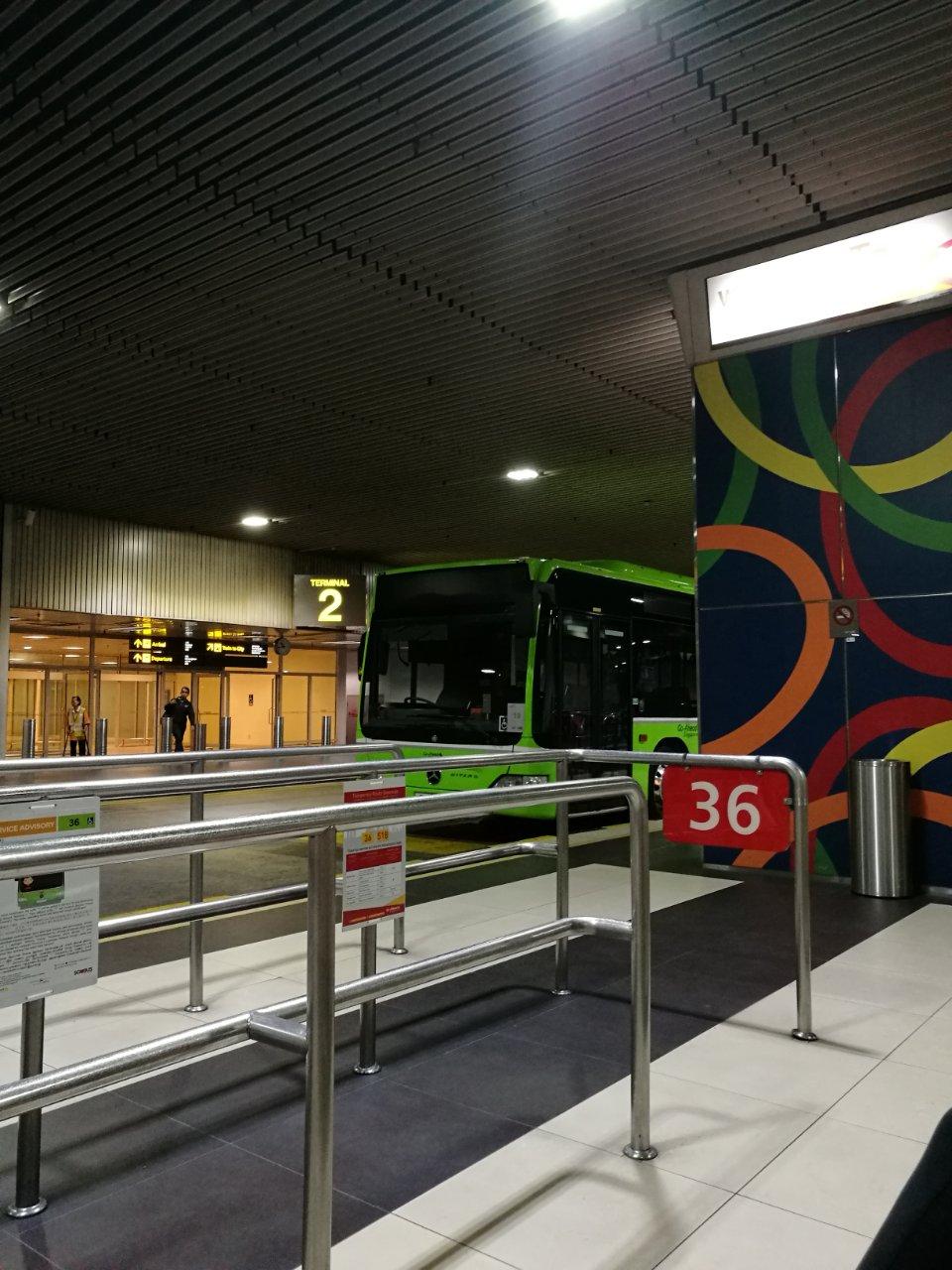 チャンギ空港から市内行きバス案内8
