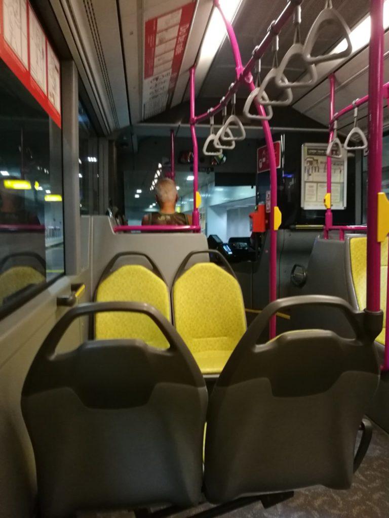 チャンギ空港から市内行きバス案内9