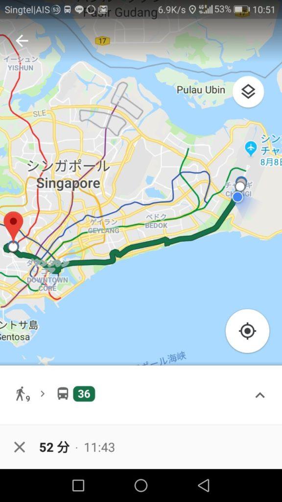 グーグルマップバス移動表示1