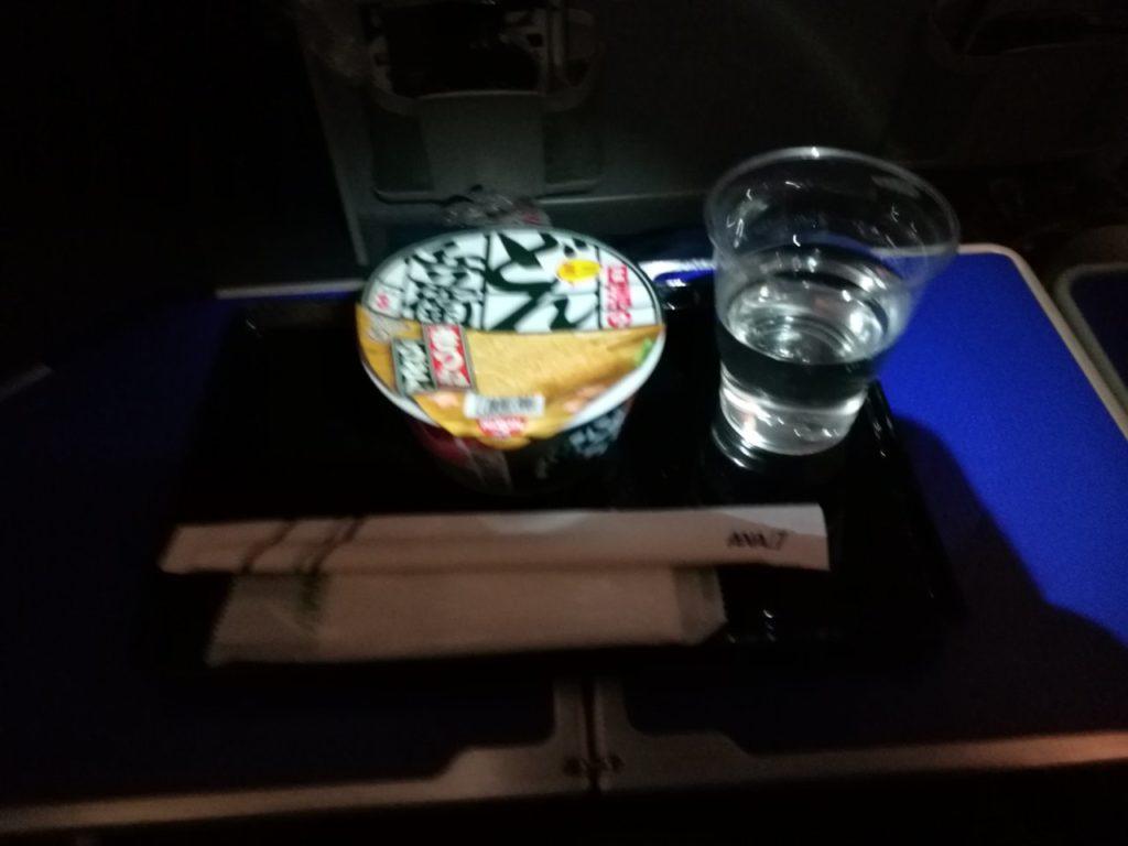 プレミアムエコノミー夜食 どん兵衛