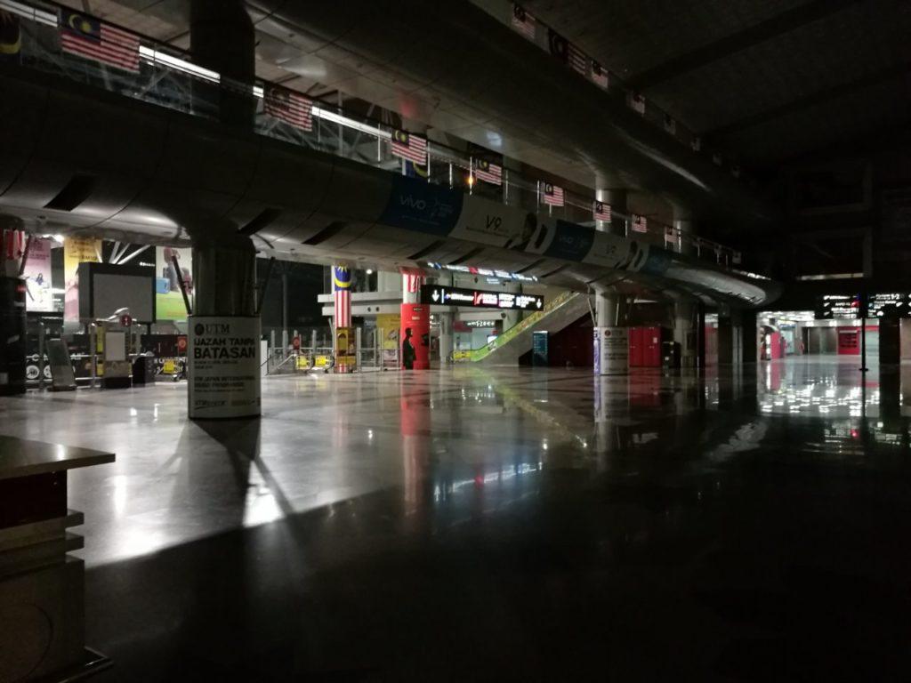早朝KLセントラル駅