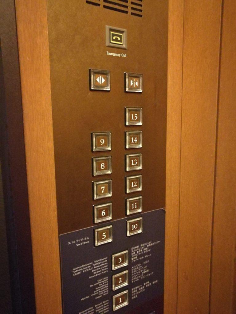 ヒルトン東京お台場エレベーター