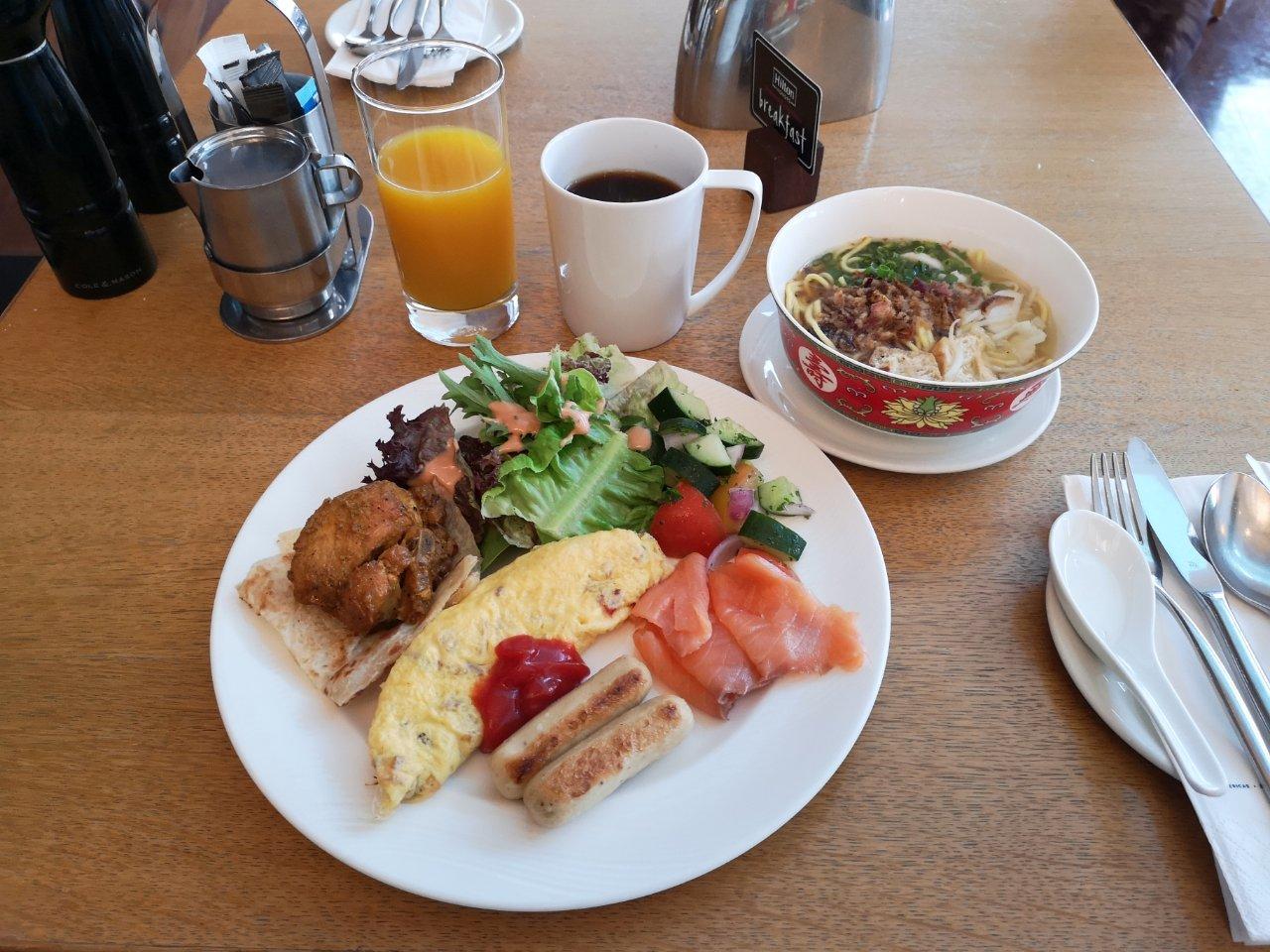 ヒルトンクアラルンプール朝食1