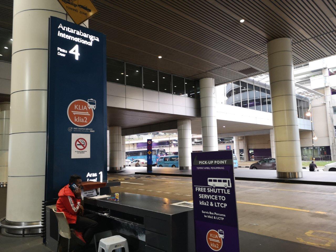 KLIA2行きフリーシャトルバス乗り場2