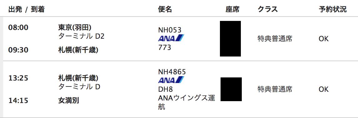 UA特典航空券内容